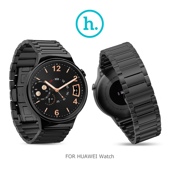 愛思摩比HOCO HUAWEI Watch格朗錶帶三珠款黑色