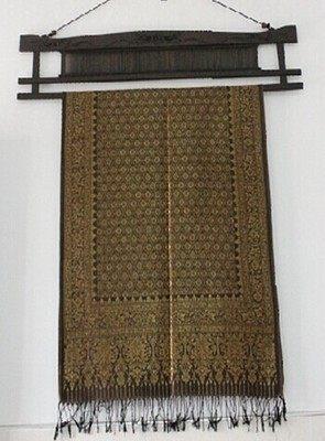 泰國風情泰絲壁掛棕色-M1242