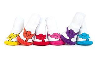 Trumpette襪子彌月禮花朵涼鞋圖案女童短襪附原廠紙盒包裝盒