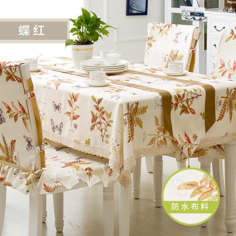 可定制!田園防水布藝桌布台布餐桌布桌椅套桌椅墊茶幾蓋餐桌桌旗