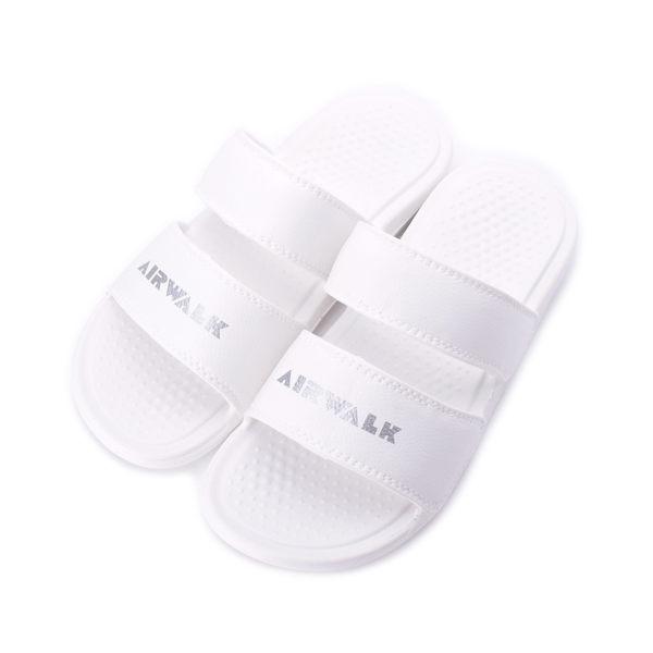 AIRWALK 雙橫帶一體套式拖鞋 白 A925220200 男女同款 鞋全家福
