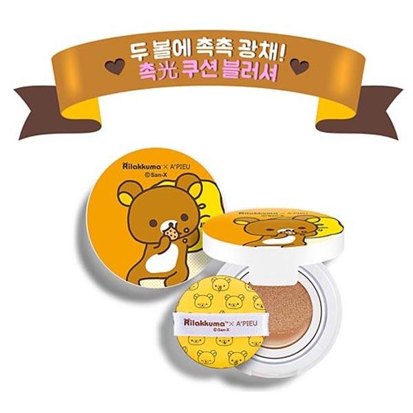 韓國Apieu拉拉熊粉嫩氣墊腮紅10g 5款可選小三美日