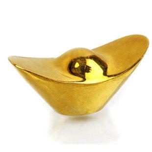 純銅實心金元寶小長形擺