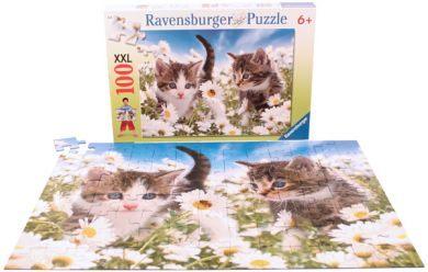 Ravensburger維寶100片拼圖-可愛小貓