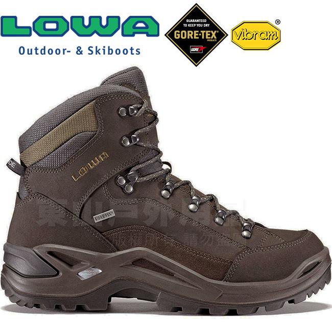 Lowa 310945-9784棕綠男Gore-Tex多功能健行鞋Renegade GTX黃金大底登山鞋軍用靴