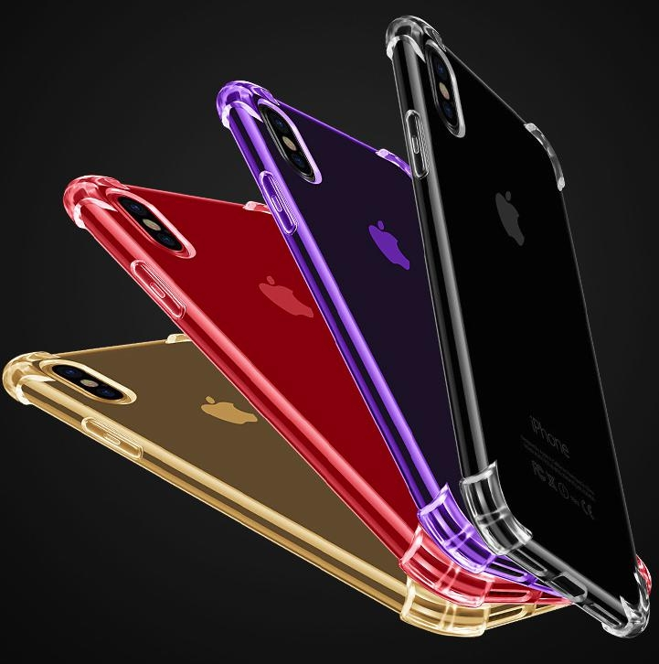 四角空壓殼Apple蘋果iPhone X 5.8吋手機殼防摔抗震四角氣墊全包邊iPhone X透明軟殼保護套