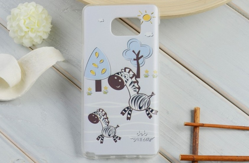 現貨note5手機殼彩繪卡通三星samsung手機殼手機膜保護套透明軟殼防摔