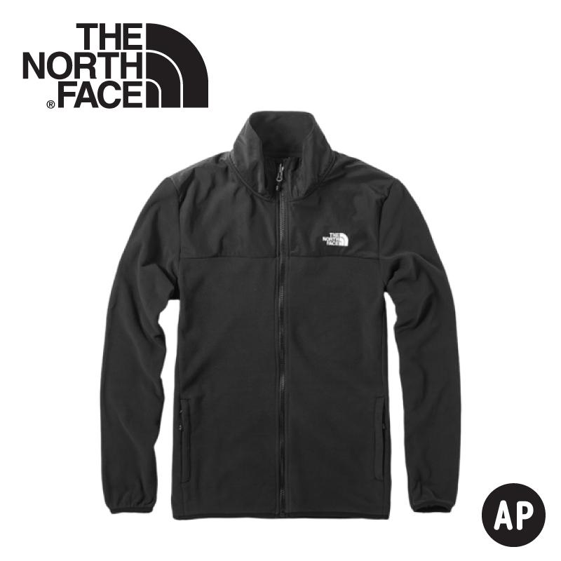 【The North Face 美國 男 刷毛保暖外套《黑》】3VTA/抓絨外套/夾克/立領外套/保暖外套/中層