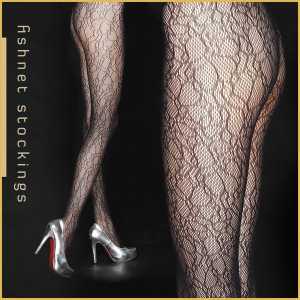 VOLA 維菈襪品‧歐式風情 流行花紋網襪 跑趴約會超性感-不規則低調