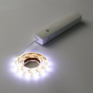 LED智能感應燈條 100公分 電池式 60顆燈珠1米 感應燈 人體感應燈 衣櫃燈  餵奶燈 露營燈條