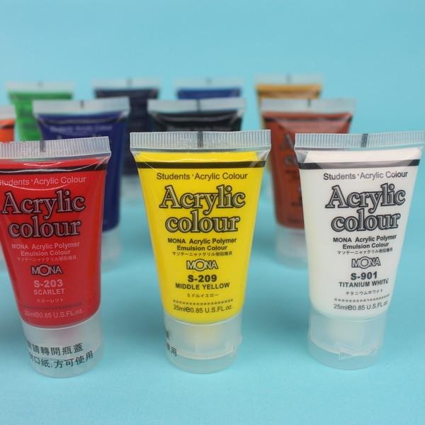 蒙納壓克力顏料單色25ml一盒12罐入定30丙烯顏料
