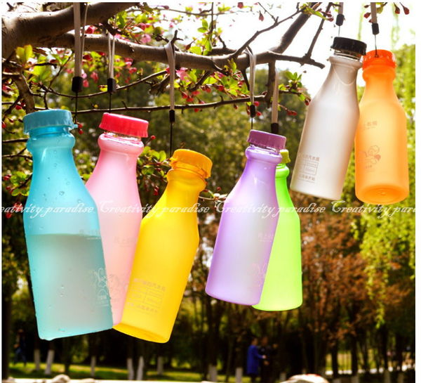 摔不破汽水瓶現貨21款韓系馬卡龍款隨身水杯水瓶550ml水壺