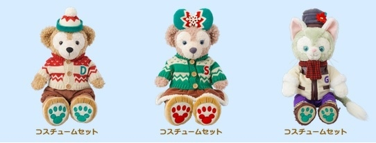 尼德斯Nydus*日本迪士尼海洋達菲熊傑拉多尼傑拉醬雪莉梅2015聖誕節限定衣服