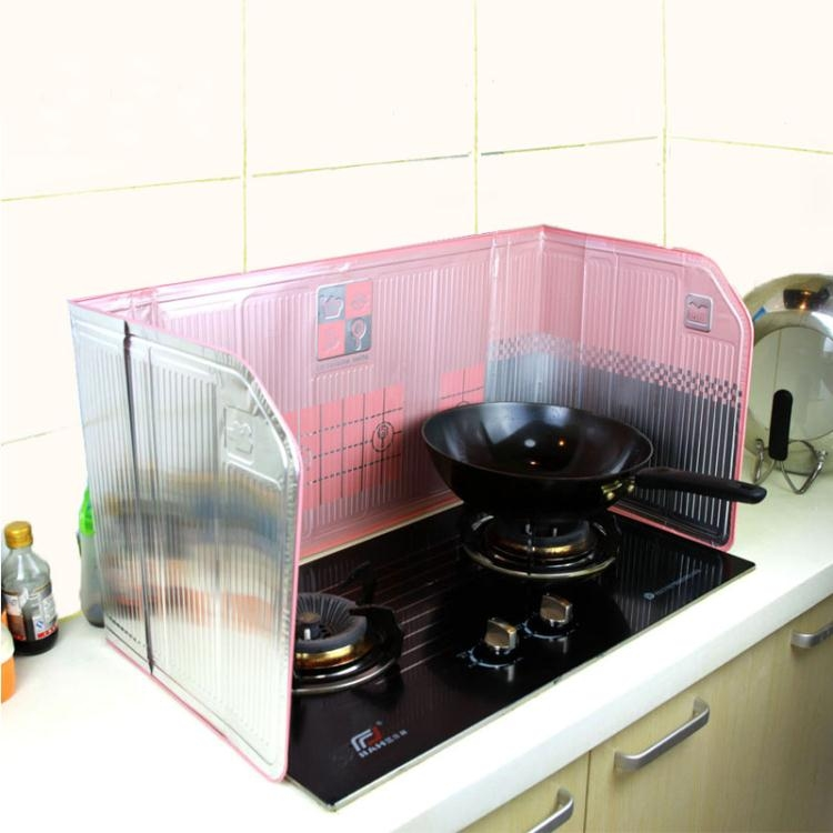日本創意廚房用品檔油板隔油鋁箔防油擋板灶臺擋板隔油擋板擋油板非凡TW