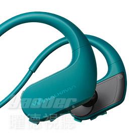 曜德買一送三SONY NW-WS413藍4GB防水極限運動數位隨身聽免運送收納盒耳塞絨布袋