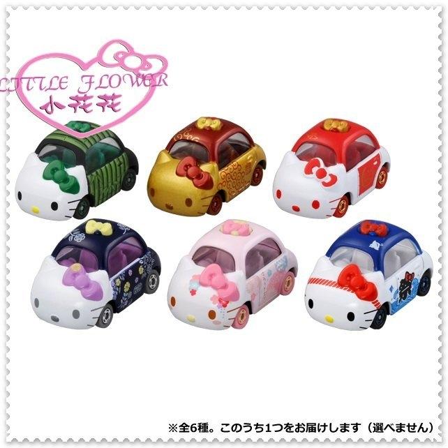 小花花日本精品Hello Kitty TOMICA日本多美小汽車造型模型汽車玩具車全6種