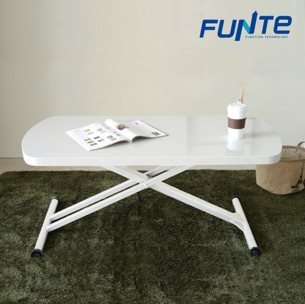 【FUNTE】多功能升降茶几桌/茶几桌/餐桌/機能桌/書桌 (白色)