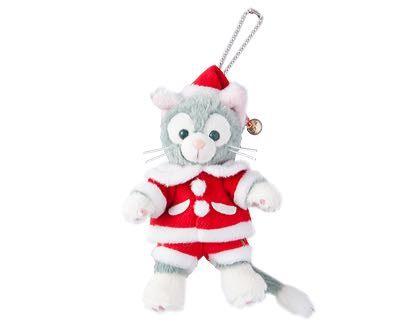 尼德斯Nydus*東京迪士尼海洋達菲熊Gelatoni傑拉托尼畫家貓傑拉貓聖誕節限定吊飾約15cm
