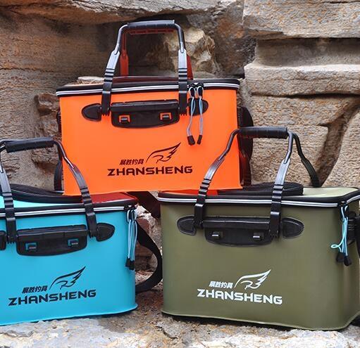 釣魚折疊桶折疊水桶水箱釣箱EVA加厚活魚桶TW釣魚桶魚箱釣魚箱魚護桶裝魚桶