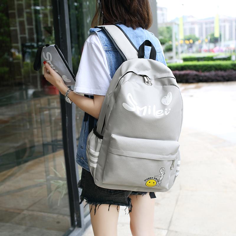 女士雙肩包 女生書包 女款旅行包 女士後背包 2017年新款韓版帆布包學院風原宿高中學生雙肩背