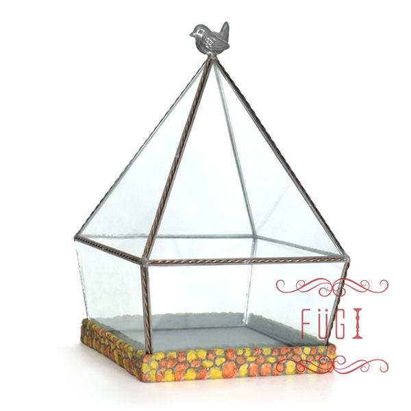 富藝家飾玻璃花房多肉植物溫室室內裝飾品園藝用品家飾禮品
