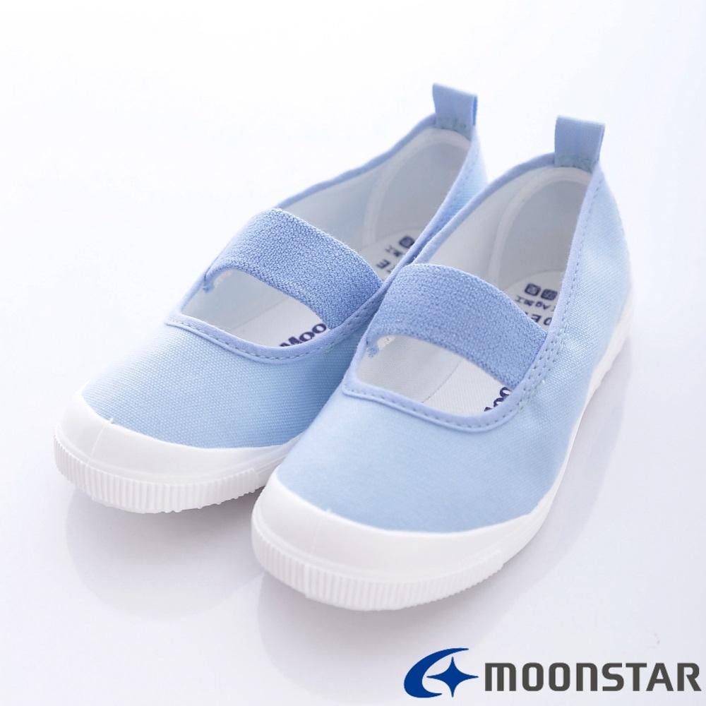 日本Moonstar機能童鞋 日本進口抗菌室內鞋 MS1951藍(中大童段)