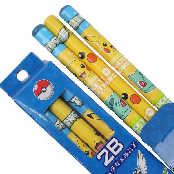 精靈寶可夢學齡前木頭鉛筆 2B 大三角鉛筆/一小盒3支入{促60}~正版授權