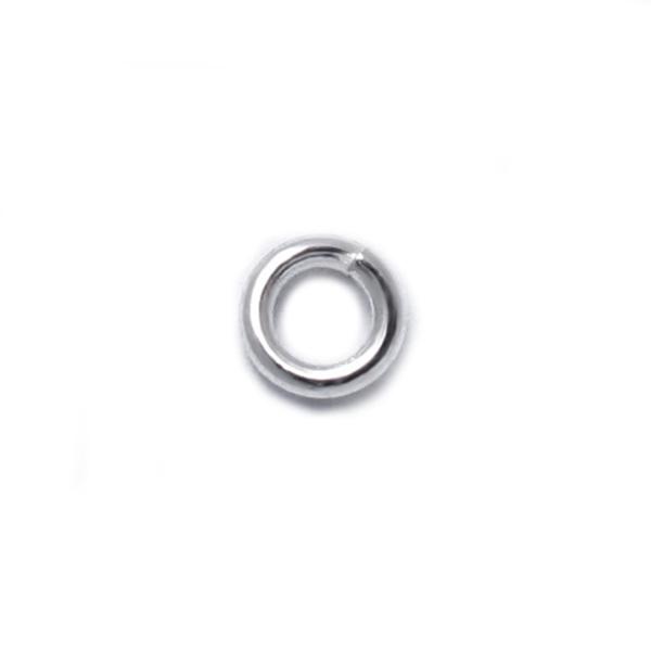 925純銀零配件-4mm開口圈/C圈/跳環-50個