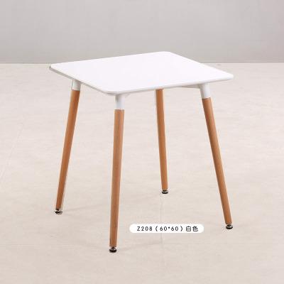 北歐實木餐桌椅組合咖啡廳桌奶茶店洽談桌椅伊姆斯小戶型吃飯桌子預購CH1372