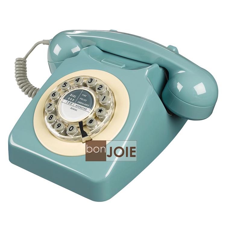 ::bonJOIE :: 746 Phone 1960's 經典懷舊復古電話機 (法國藍) 復古電話 經典 懷舊 復古 設計師款 桌上