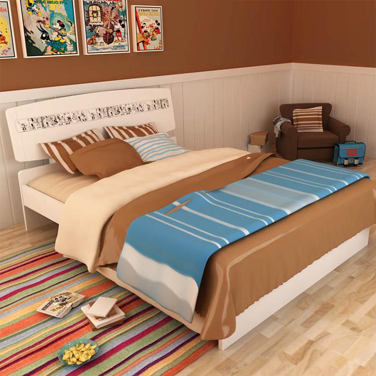 首雅傢俬單人床架漫畫米奇4尺單人床單人加大床架兒童床兒童家具