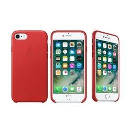 刷卡蘋果Apple iPhone 7原廠皮革護套紅色全新公司貨保護殼背蓋皮套
