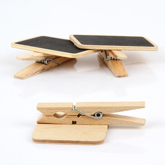 ♚MY COLOR♚ 小黑板木夾子 學生用品 設計 辦公用品 創意 文具 重點 多功能【P109】
