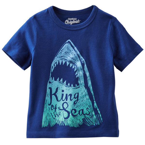 Carter's/OshKosh B'gosh 美國童裝 純棉T恤 鯊魚 6M 9M 12M 18M 24M
