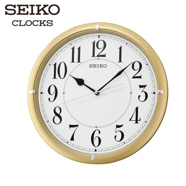 SEIKO精工掛鐘金框大數字靜音秒針掛鐘x直徑31cm高雄門市QXA637G公司貨