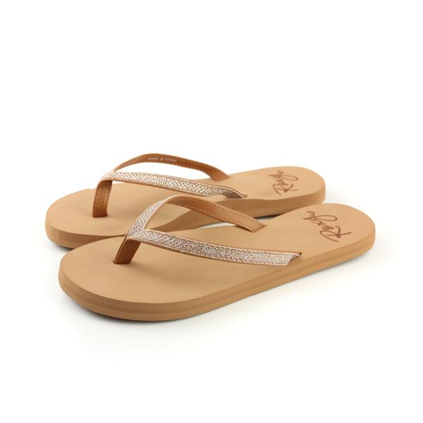 ROXY 夾腳拖 拖鞋 棕色 女鞋 no025