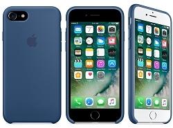 蘋果Apple iPhone 7原廠矽膠護套海藍色全新公司貨保護殼背蓋皮套