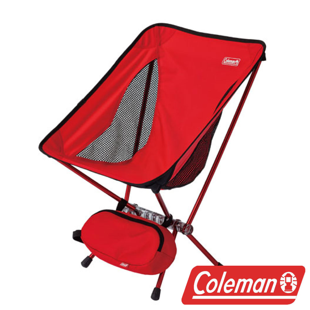 Coleman LEAF隨行椅紅超輕鋁合金折疊月亮椅摺疊椅休閒椅折疊椅折合椅CM-27854