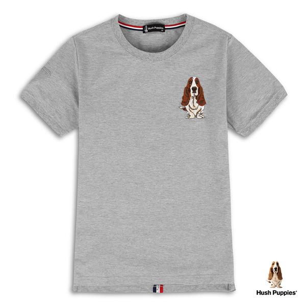 Hush Puppies T恤 男裝吸濕排汗後織帶配色刺繡狗T恤