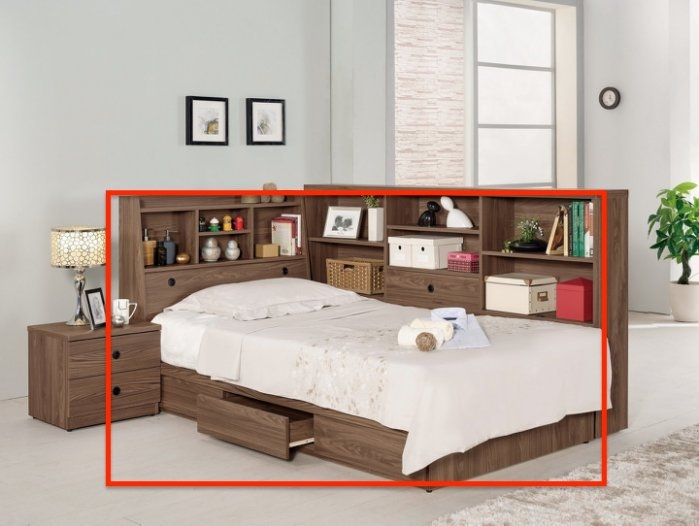 8號店鋪森寶藝品傢俱666-3 5 7諾艾爾3.5尺書架型單人床不含床墊單邊抽屜