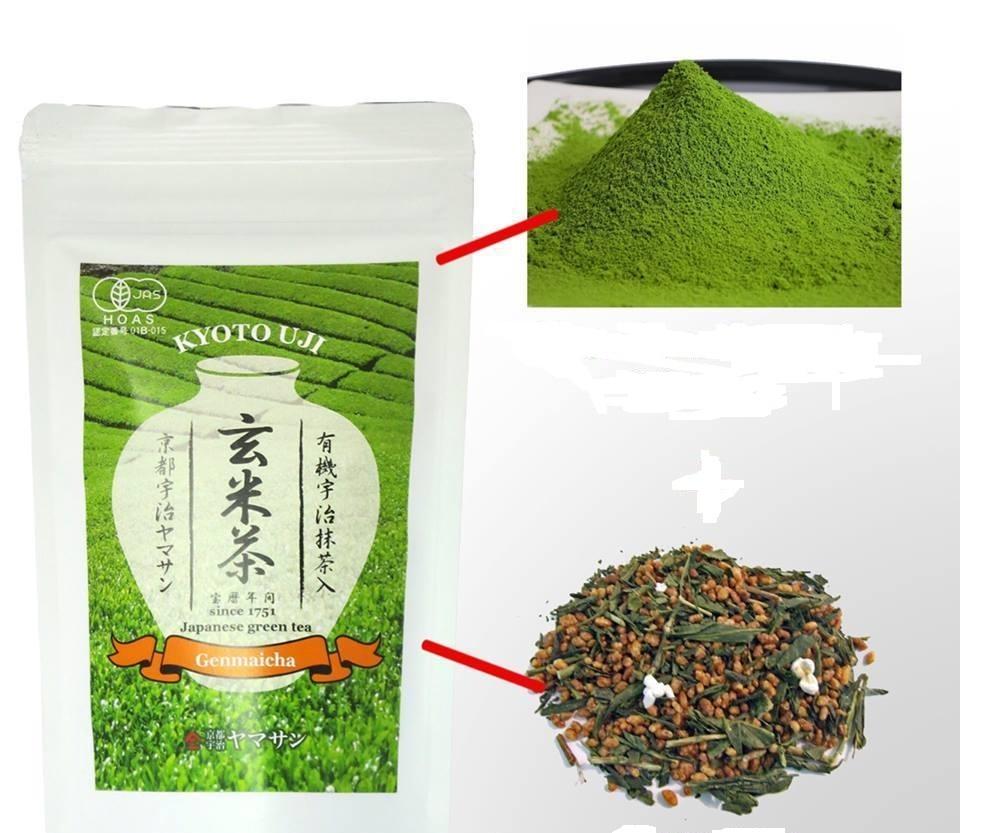 日本京都宇治玄米茶100g 2017新茶無農藥日本JAS認證日本免運中