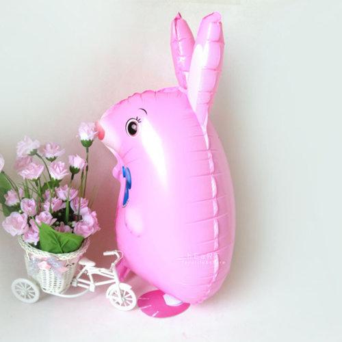 兔子散步鋁箔氣球無充氣生日派對派對佈置生日氣球散步氣球散步動物
