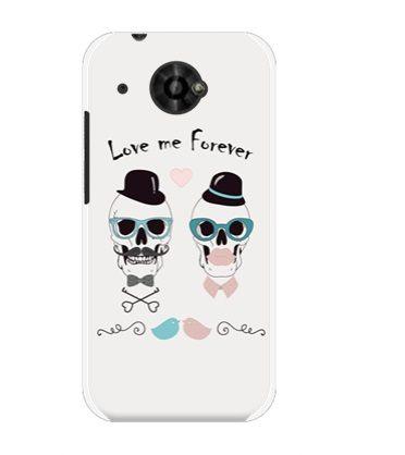 ♥ 俏魔女美人館 ♥ HTC Desire 601 dual /6160 {骷髏情侶*水晶硬殼} 手機殼 手機套 保護殼