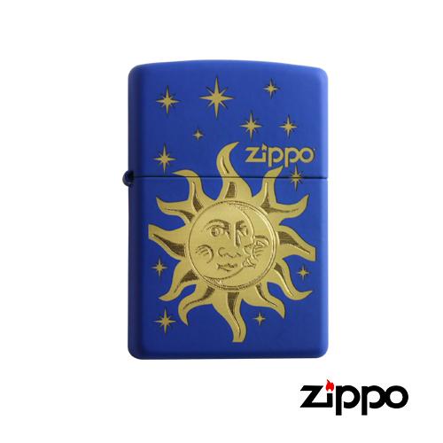 【Zippo‧太陽與月亮.打火機 】小安的店銀飾精品防水打火機