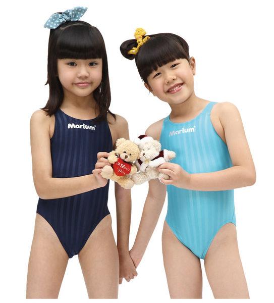 MARIUM小女競賽型泳裝深藍MAR-8003WJ