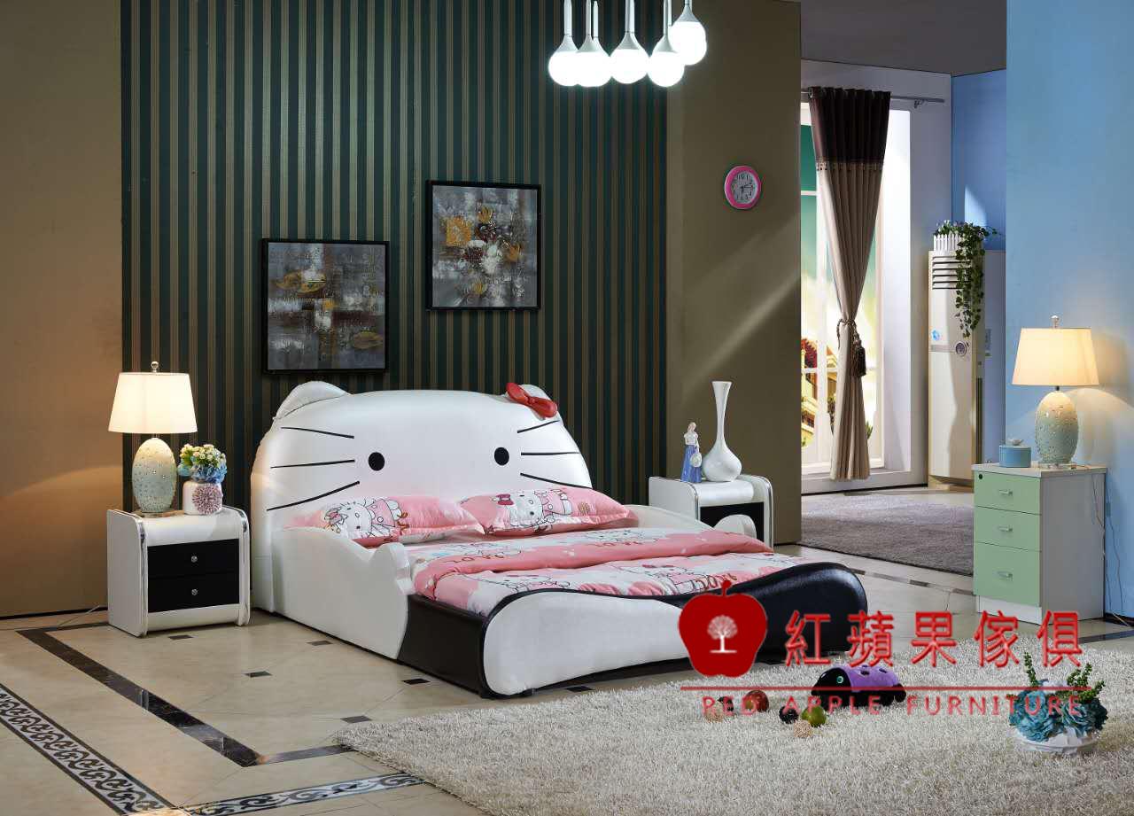 紅蘋果傢俱Y810兒童家具跑車床KITTY床兒童功能床四尺五尺汽車床床架造型床床頭櫃