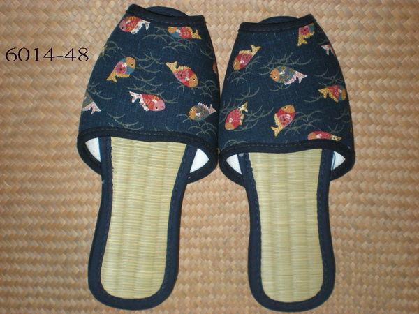 藺草商品-室內鞋M日式藺草鞋~全長尺寸25CM~背部止滑