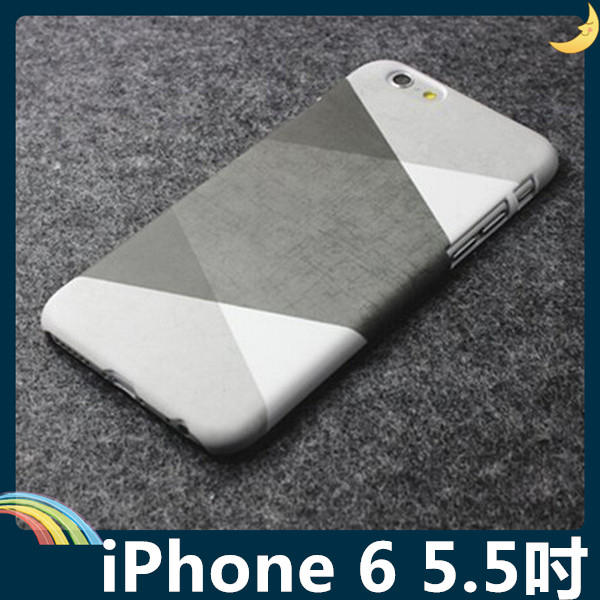 iPhone 6 6s Plus 5.5吋黑白灰撞色保護套軟PC硬殼黑白格調簡約款矽膠套手機套手機殼背殼外殼