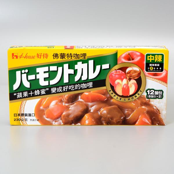 日本好侍HOUSE佛蒙特咖哩中辣230g