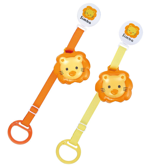 奇買親子購物網小獅王辛巴simba衛生奶嘴鍊-橘黃